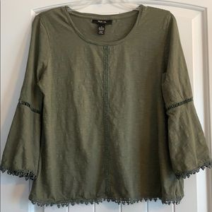 Style & Co. Green Blouse, S